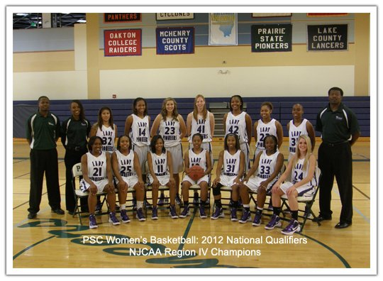 PSC Women's Basketball: 2012 National Qualifiers, NJCAA Region IV Champions