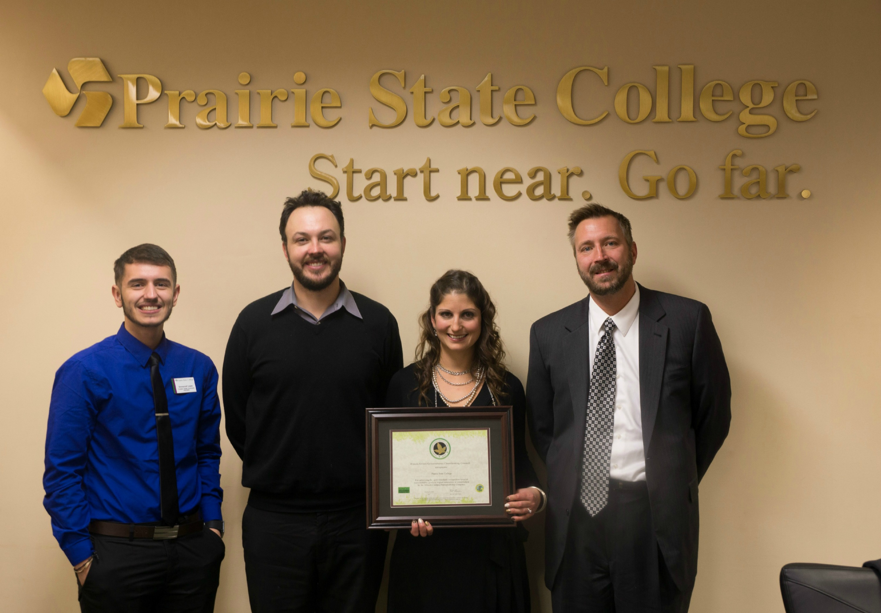 Prairie State College Recognized as Gold Level Compact School by Illinois Governor's Office for Sustainability Efforts