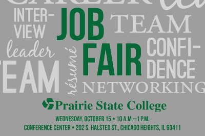 Prairie State College Job Fair Scheduled for October 15