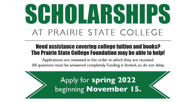 Apply for Spring 2022 scholarships beginning November 15th