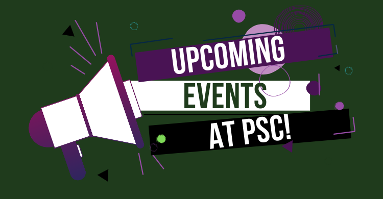 VIew upcoming virtual events at PSC