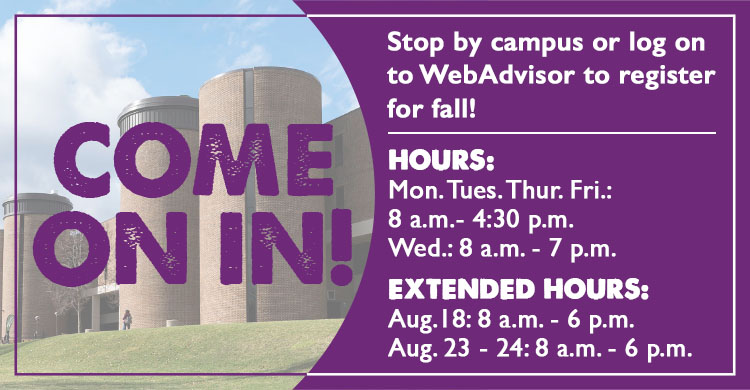 Come on in for Fall 2021 registration!