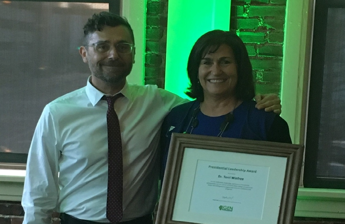 PSC President Winfree Receives IGEN Leadership Award