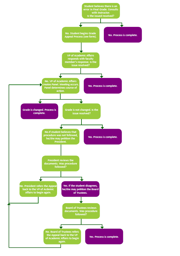 Grade Appeal Process Flow Chart