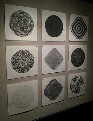 Grid of drawings by Zach Mory
