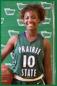PSC Women's Basketball Team Player Ambrea Gayle