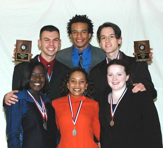 2004-2005 Forensics Team Team with Regional Silver Awards