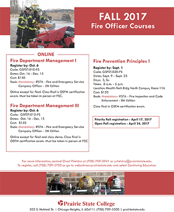 Fall Fire Science Flyer