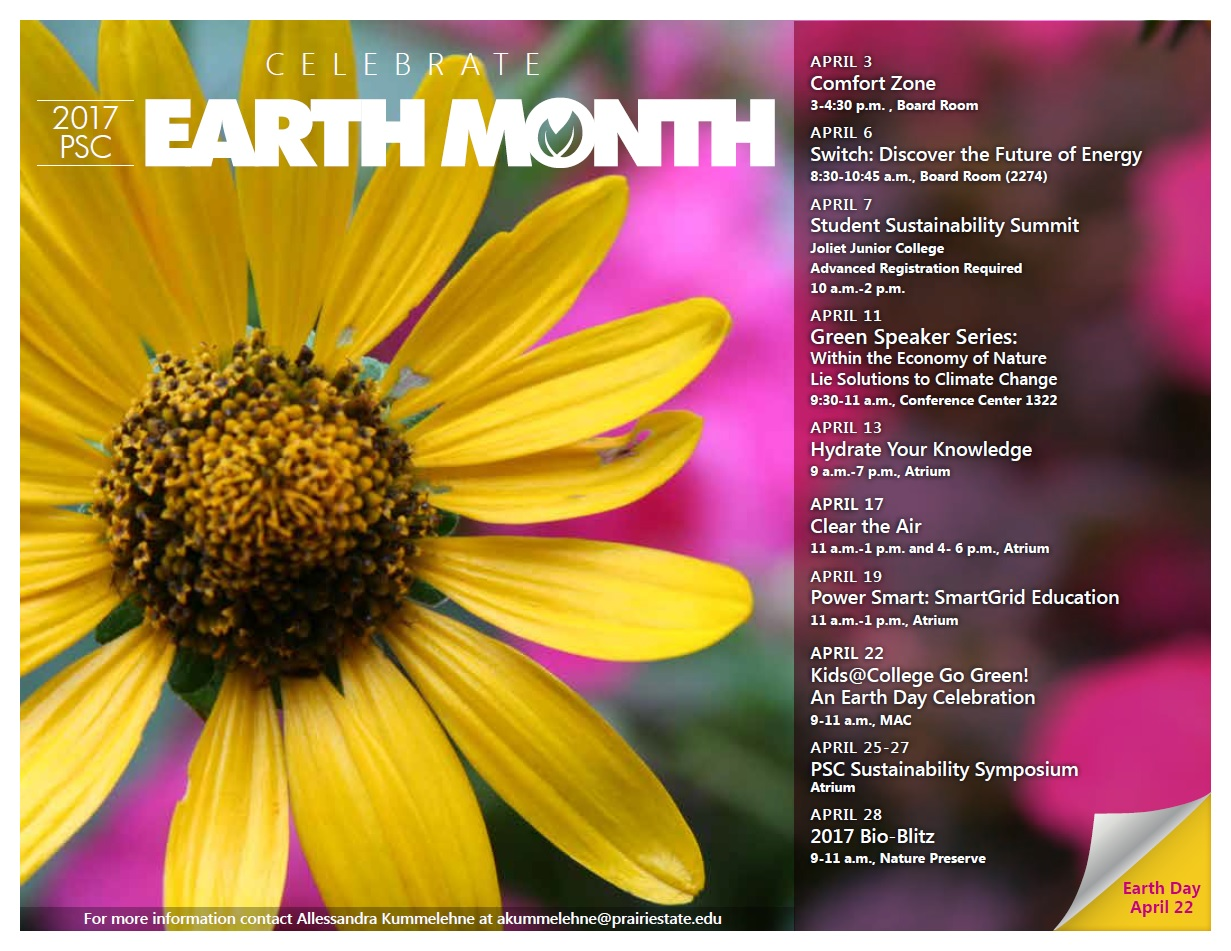 Earth Month 2017 Calendar