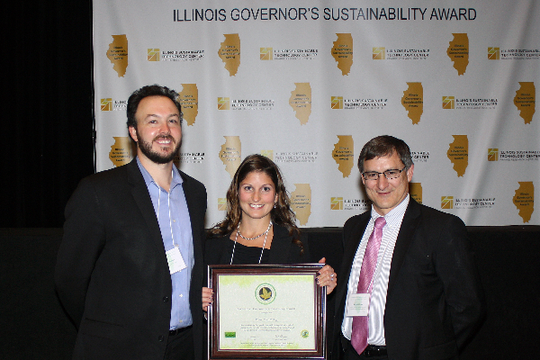 Sustainability Coordinator, Allessandra Kummelehne, receives Gold Recognition at IL Governor's Sustainability Award Ceremony