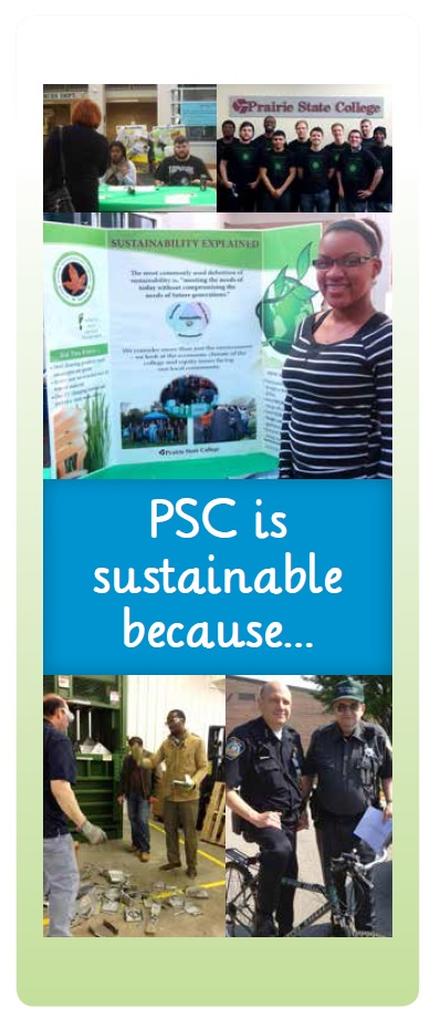 PSC is sustainable because photo collage