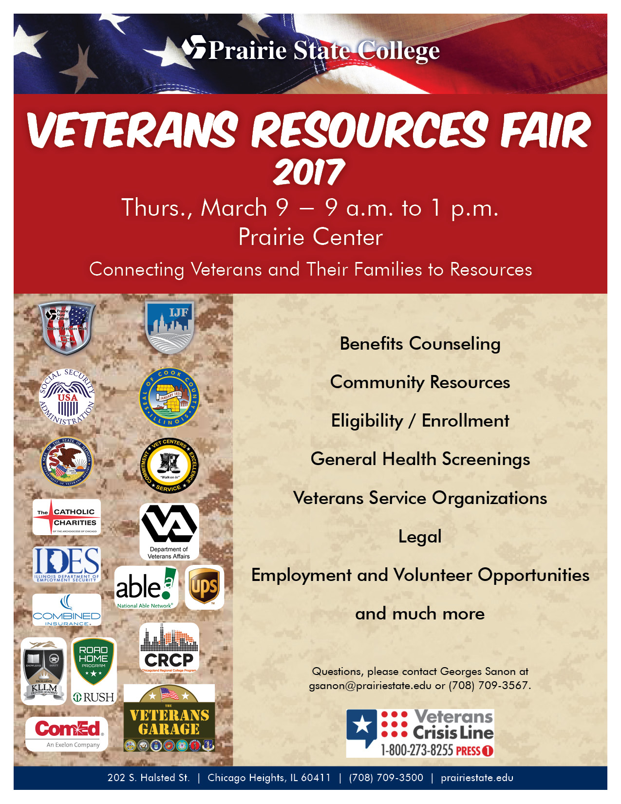 Veterans Resources Fair Scheduled on PSC Campus March 9