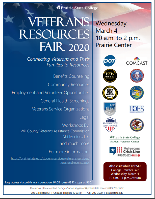 Veterans Resources Fair 2020 Flier