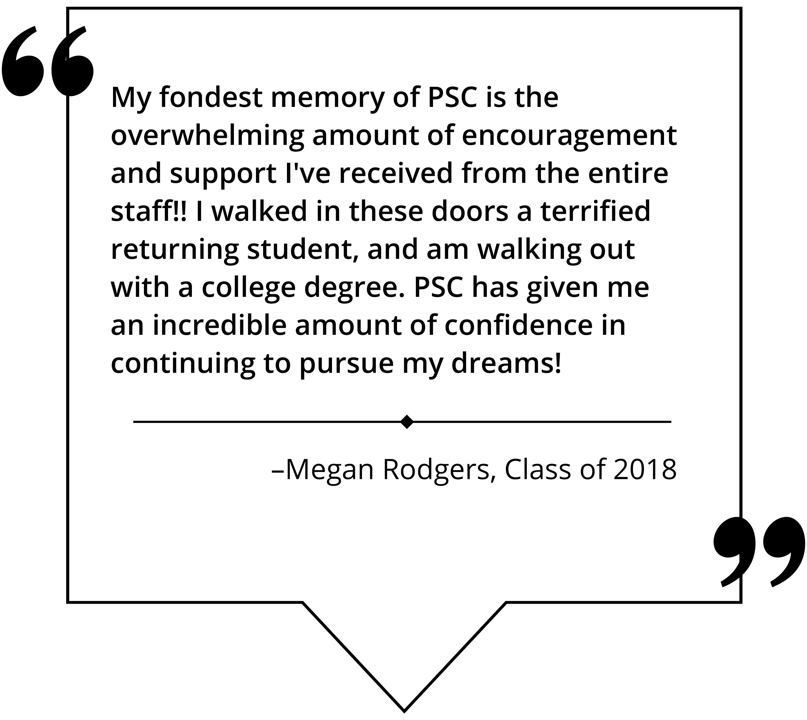 Megan Rodgers, Class of 2018