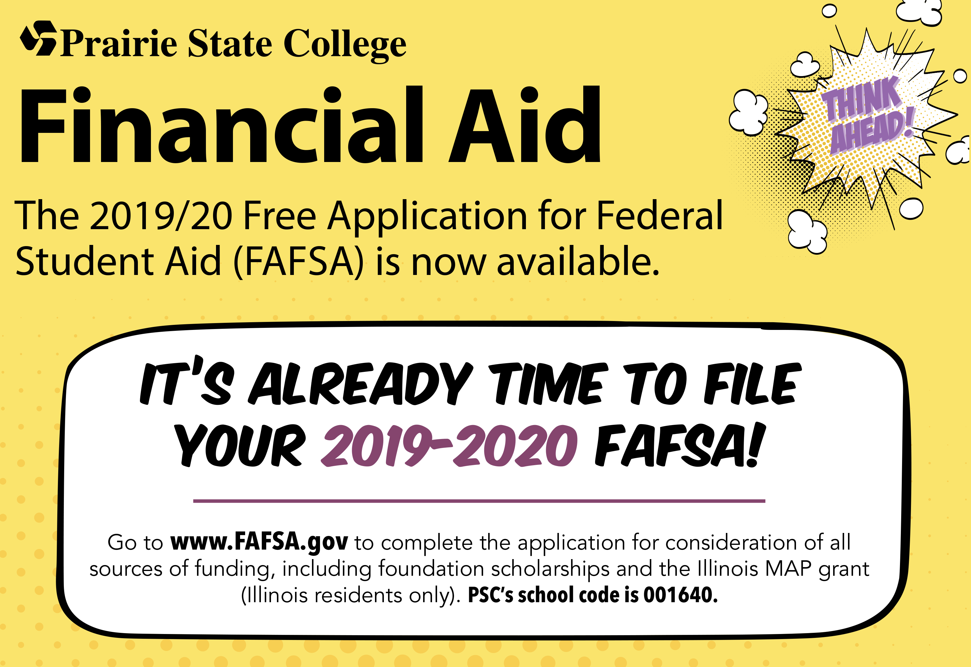 Graphic depicting early FAFSA filing