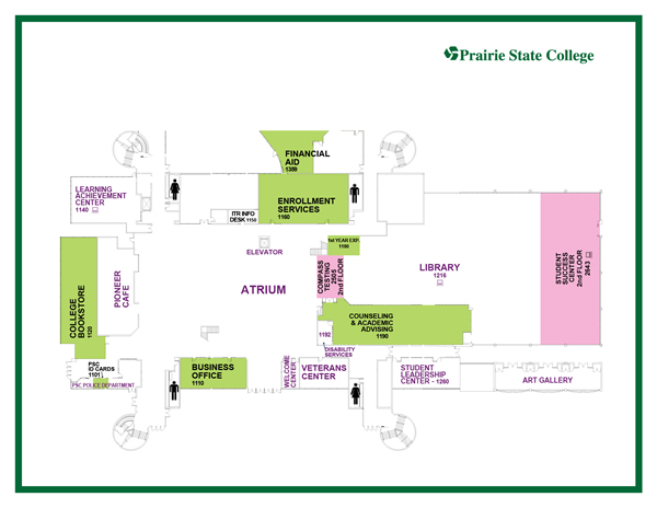 Map of Student Services Offices
